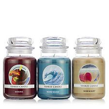 Yankee Candle Set of 3 Down On the Beach Large Jars