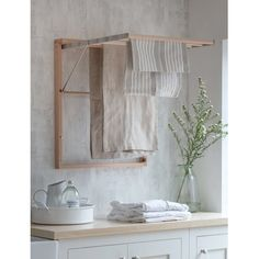Chalford Wall Dryer Boot Room Utility, Small Utility Room, Wall Drying Rack, Compact Laundry, Shop Shelving, Laundry Appliances, Washing Machine And Dryer, Masonry Wall, Interior Color Schemes