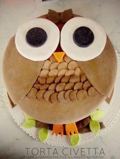 """Simpaticissima torta civetta con #nocciolata di Erica Ferreri del blog """"Ogni riccio un pasticcio"""""""