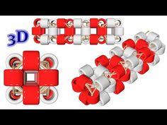 Квадратный жгут из бисера/Tutorial: Square harness. 3D урок - YouTube