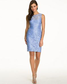 Lace Illusion Cocktail Dress - A delicate lace illusion defines this alluring and elegant dress. Prom Dresses, Formal Dresses, Illusions, Cocktails, Lace, Landing, Style, Fashion, Dresses For Formal