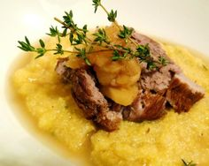 Braised Leg of Lamb with Stewed Apples and Polenta