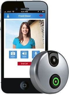 SkyBell is a WiFi doorbell that allows you to see, hear and speak to the person at your door