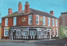 ARTFINDER: St John's Hotel, Hull by Andrew  Reid Wildman - This cheerful work depicts a favorite Hull watering hole, the St John's Hotel. It is the latest addition to the portfolio of artist Andrew Reid Wildman. The ...