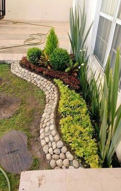 # # Front yard landscaping may will be quite different with the backyard since people that you want to show off is also different. Your backyard is intended for 25 Beautiful Front Yard Rock Garden Landscaping Design Ideas Landscaping With Rocks, Front Yard Landscaping, Landscaping Design, Florida Landscaping, Landscaping For Small Yards, Small Garden Landscape Design, Backyard Garden Landscape, Mulch Landscaping, Garden Modern