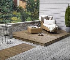 Det er kun fantasien som stopper oss! Paving Stones, Outdoor Furniture, Outdoor Decor, Garden Inspiration, Patio, Outdoors, Gardening, Design, Home Decor