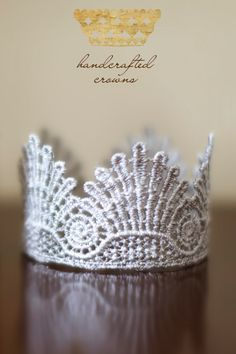 Lace Crown add pearls and tiny starfish