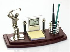 Golf Desk Organizer Promotional Products From Wood Arts Universe