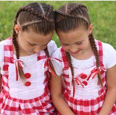 Lace braids crossing to Dutch braids