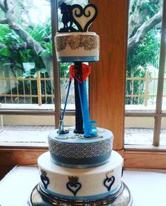 Our Kingdom Hearts Wedding Cake! Done by Chef Alon! #kingdomhearts