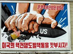 Anti-American North Korea Poster - Crush Troop