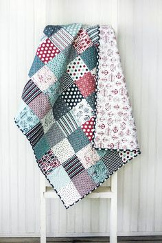 The Boathouse Baby Quilt - Crib Quilt - Small Lap Quilt - Sweetwater Fabrics…