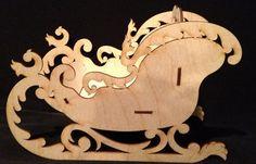Wooden Santa Sleigh