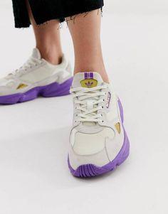 size 40 cdf2b da574 adidas Originals TFL Falcon in off white and purple