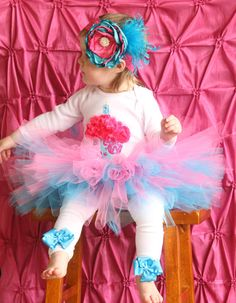 Adorable Amelia cupcake 1st Birthday tutu outfit by KateGraceRose, $50.00