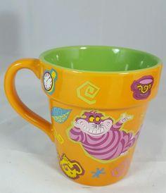 Disney Parks Alice in Wonderland in The Garden Cheshire Cat Coffee Tea Mug New #Disney
