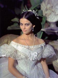 Claudia cardinale, wearing a beautiful white victorian dress :)
