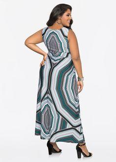 Printed Twist Waist Maxi Dress Printed Twist Waist Maxi Dress