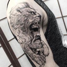 Fredao_oliveirA Tattoo Hércules Feito na @inkonik_tattoo_studio #electricink