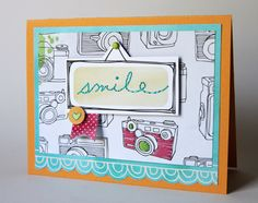Smile - by Cindy Tobey using Amy Tangerine Sketchbook from American Crafts.