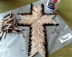 Burnt matchstick cross tutorial