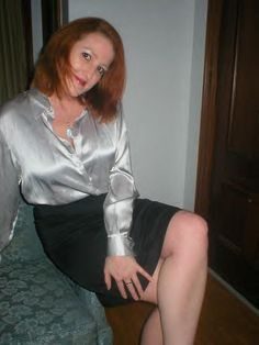 silver satin blouse