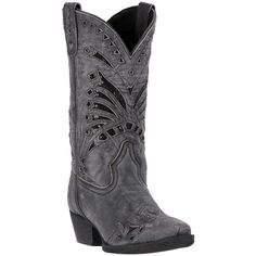 Laredo Women's Black Stevie Cowgirl Boots - HeadWest Outfitters