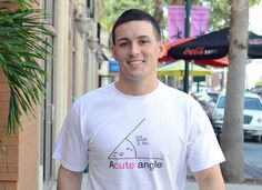 Acute Angle T-Shirt by SnorgTees. Men's and women's sizes available. Check out our full catalog for tons of funny t-shirts.