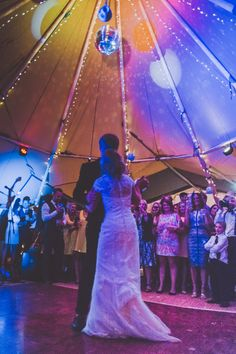 Sami Tipi Wedding - The disco ball makes for a magic effect in the tipis, just perfect