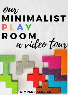 A video tour of our minimalist play space Minimalist Parenting, Minimalist Kids, Minimalist Lifestyle, Kids Room Organization, Playroom Organization, Playroom Ideas, Playroom Furniture, Playroom Table, Modern Playroom