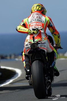 Valentino Rossi racing for Ducati Grand Prix, Course Moto, Gp Moto, Valentino Rossi 46, Ducati Motorcycles, Ducati Motogp, Custom Motorcycles, Yamaha, My Champion