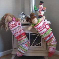 Christmas Stocking  Quilted Patchwork Boutique  custom by Pwackets, $75.00
