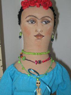 Frida Kahlo doll by Etsy.com/shop/ChicoStudios