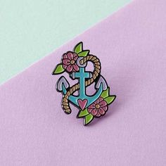Anchor Enamel Pin | Punky Pins – punkypins