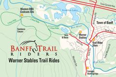 Banff Trail Riders Hourly Trail Ride Map