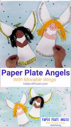 Paper Plate Christmas Angels This Paper Plate Angel Craft For Kids is so pretty and fun! This easy Christmas angel craft has movable wings so kids can make and play! A simple and fun paper plate Christmas craft for kids. Christmas Angel Crafts, Christmas Bible, Christmas Crafts For Kids To Make, Childrens Christmas, Preschool Christmas, Xmas Crafts, Preschool Crafts, Kids Christmas, Christmas Paper