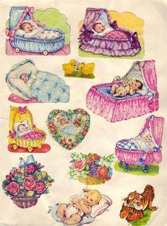Vintage Baby Pictures, Baby Journal, Baby Kind, Vintage Cards, Vintage Dolls, My Childhood, Paper Dolls, Scrap, Paper Crafts