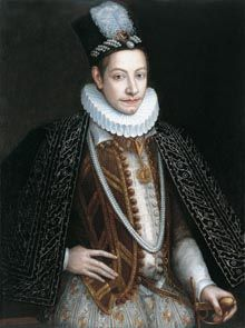Portrait of Charles Emmanuel I, Duke of Savoy (1562-1630), 1580, Jan Kraeck, called Giovanni Caracca (active 1567-1607)