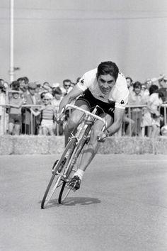 Merckx ripping up the road in an ITT