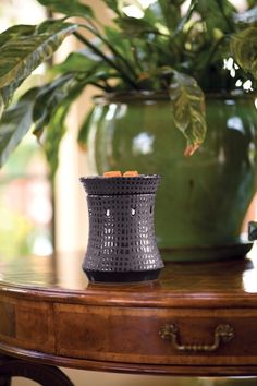 """Turret"" Scentsy Warmer  Organic yet stately, the titanium finish of Turret brings to mind glass mosaic patterns unearthed in ancient ruins. http://www.lovingsomescents.com/"