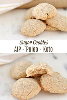 Not only are these sugar cookies grain free, nut free, egg free, and paleo but they can also be considered an AIP Keto cookie! Keto Cookies, Sugar Cookies Recipe, Paleo Cookie Recipe, Aip Recipe, Healthy Cookies, Whole Foods Market, Paleo Dessert, Paleo Sweets, Dessert Recipes