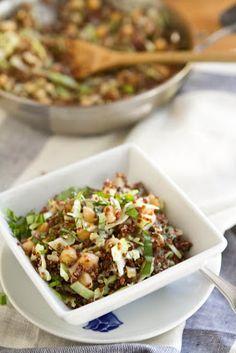 Naturally Ella | Quinoa, Cabbage, and Garbanzo Beans | Naturally Ella
