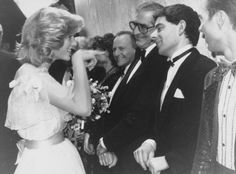 Princess Diana knowing for the first time Rowan Atkinson (Mr Bean) in 1984 .