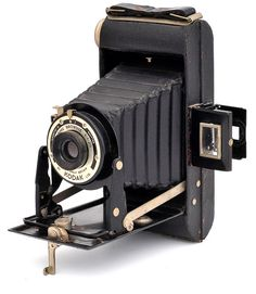 The Kodak Folding Brownie Six-20 or Kodak Six-20 Folding Brownie was a viewfinder folding camera for making 6x9cm exposures on type No. 620 film rolls. There were two models; the first was produced in the UK by Kodak Ltd from 1937-1940 and the second from 1948-1954. Lens & Shutter: fixed-focus Meniscus in Kodette II shutter or 100mm f6.3 Anaston focusing/Dakon.