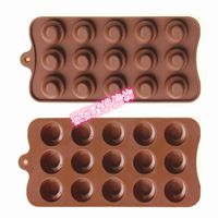 Fondant Silicon Mold Tools Diy baking tools 15 silicon gel cake mould chocolate cookie mold