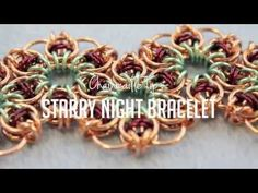▶ Chainmaille Tips : Starry Night Bracelet - YouTube