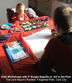 Kids workshops facilitated by Art in the Park artist resident Patricia Gurgel-Segrillo Kids Workshop, Art In The Park, Cork City, Lord, Education, Artist, Crafts, Manualidades, Artists