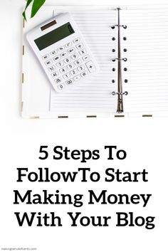 5 Steps You Need to Follow to Finally Start Making Money With Your Blog. Here's how to make money blogging and finally start making some extra money, or even a full-time income. #makemoneyblogging #blogging Make Money Blogging, Way To Make Money, Saving Money, How To Make, Earn Extra Cash, Extra Money, Money Change, Debt Free Living, Starting Your Own Business