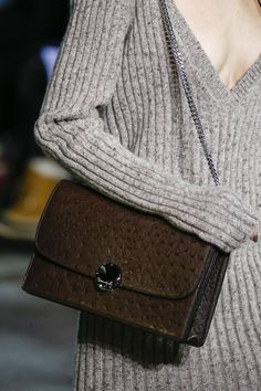 Marc Jacobs AW14 Ostrich brown and flecked ribbed knits