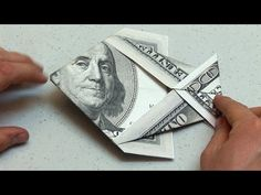 Easy Origami Dollar Bill Money Fish Instructions - YouTube